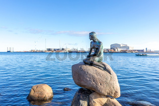 Little mermaid statue Copenhagen