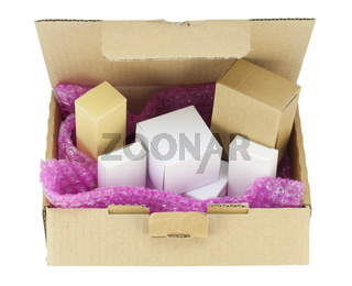 Cardboard boxes  isolated