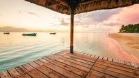 Beautiful sunset at Mauritius