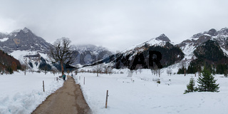 Grosser Ahornboden im Winterkleid