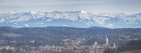 Ravensburg with alpine panorama
