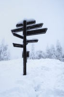 Harz National Park, signpost, Brocken, Germany