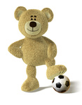 Nhi Bear - Foot on a Soccer Ball