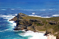 Cape of Good Hope (view from Cape Point to Cape of Good Hope), South Africa