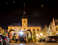 Traditional German Christmas Market in Pfaffenhofen