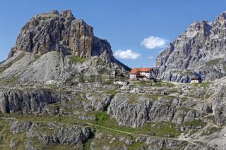 DreizinnenhŸtte, Nationalpark Dolomiti di Sesto, Sextener Dolomiten, Hochpustertal, SŸdtirol, Italien, Europa