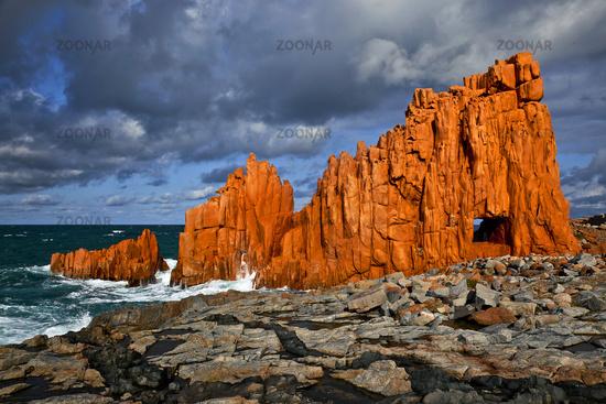 porphyr rock formation, Arbatax, Sardinia, Italy