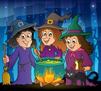 Three witches theme image 2 - picture illustration.