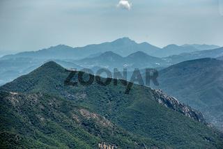 Blick von der Passstraße Genna Silana nach Süden, Sardinien
