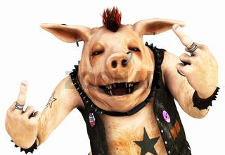 punker schwein