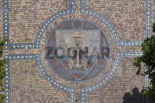 Wappen von Hl. Gotthard, Mosaik, Gotha