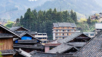 roofs of country houses in Chengyang village