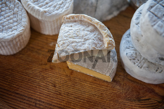 Set of different cheese