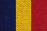 Fahne von Tschad auf altem Leinen - Flag of Chad on old linen