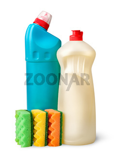 Sponges and detergent