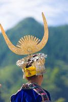 Miao Woman Rear Headdress Festival Costume