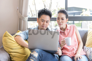 Young Couples using laptop