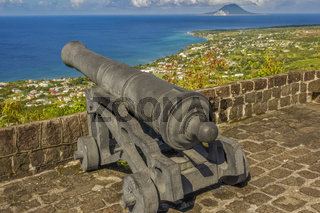Old British Fortress At Brimstone Hill St. Kitts West Indies
