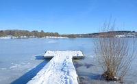 Wintertime in Stahlhofen am Wiesensee in Westerwald region,Rhineland-Palatinate,Germany