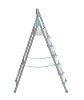 Unfolded metal ladder