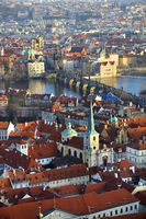 Panoramic view from Prague, Czech Republic