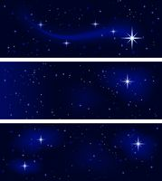 Peaceful starry night, silent and tranquil