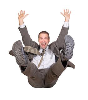 jump businessman