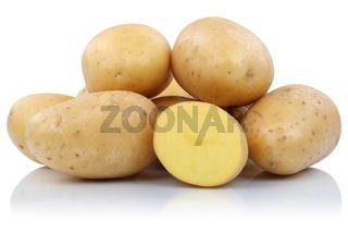 Kartoffeln geschnitten frisch Gemüse Freisteller freigestellt isoliert