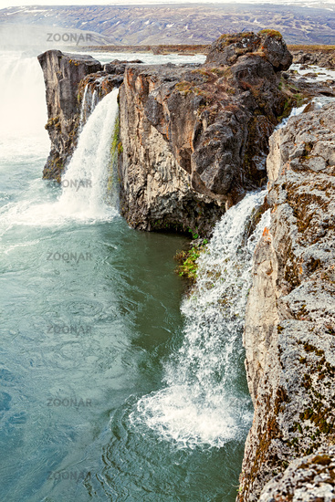 View of Godafoss waterfall, Iceland