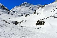 Gipfel Mont Mort am Grossen St Bernhard Pass