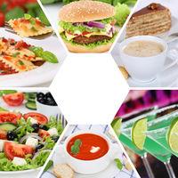 Sammlung Collage Essen und trinken Gerichte Restaurant Karte