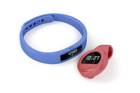 Wristband and clip-on activity trackers