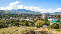 panoramic view of Alushta city from Castle Hil
