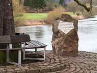 Weserstone at the point where the rivers Werra and Fulda meet to form the Weser