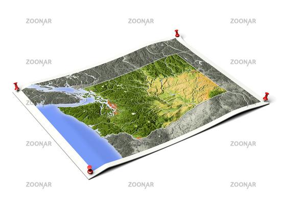 Washington on unfolded map sheet.