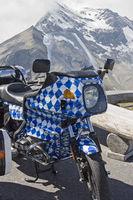 Bavarian motorbike on alpine tour