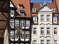 Hildesheim - Buildings on the historical market square, Germany