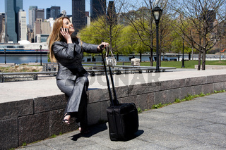 Entrepreneur woman on phone