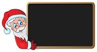 Santa Claus with blackboard theme 1
