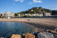 Blanes Town Beach and Sea in Spain