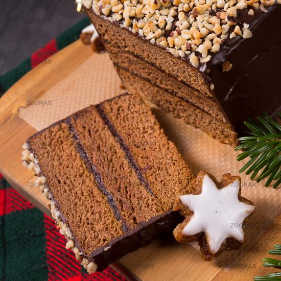 Filled gingerbread