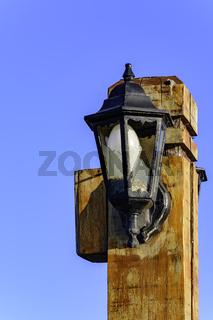 Old wooden light pole