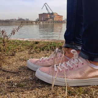 Shining sneakers