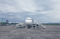Airplane at airport gate
