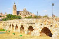 Roman bridge in Salamanca