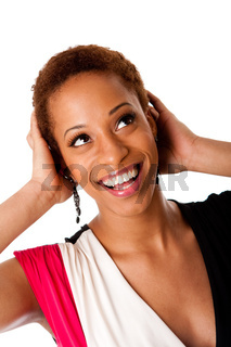 Beautiful laughing African business woman
