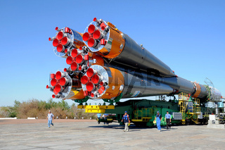 Progress Rocket at Baikonur Cosmodrome