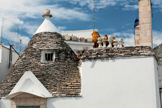 Roof of a Trullo house in Alberobello, Puglia, Italy