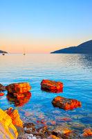 View of the Bay of Kotor in Herceg Novi town