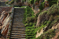 Rocky steps at the Cabo Roig. Costa Blanca. Spain